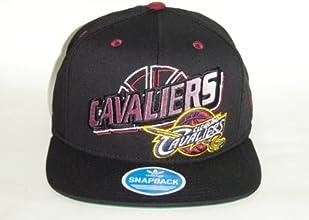 Adidas Adidas Cleveland Cavaliers Black Logo 2 Tone Snapback Retro Cap