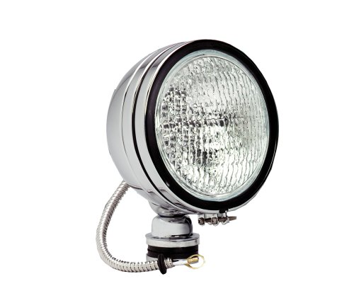 Kc Hilites 1619 Daylighter Chrome 100W Single Flood Light With Cover