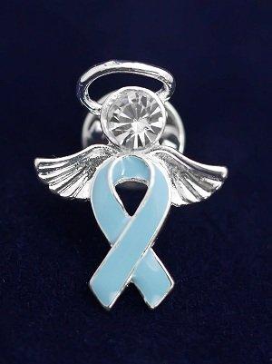 Light Blue Ribbon Pin- Angel Tac (36 Pins)