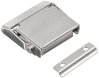 "Stainless Steel 304 Spring Loaded Draw Latch, Polished Finish, Non Locking, 1 37/64"" Length (Pack of 1)"