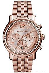 Michael Kors MK5983 Baisley Crystal Bezel Rose Gold Tone Chronograph Women's Watch