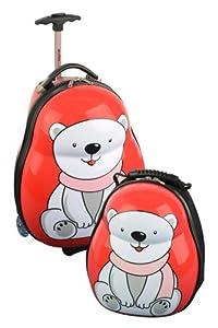 Skyflite Skykidz Polar Bear Childrens Trolley Suitcase And Backpack Set