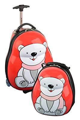 Skyflite Skykidz Polar Bear Childrens Trolley Suitcase and Backpack Set