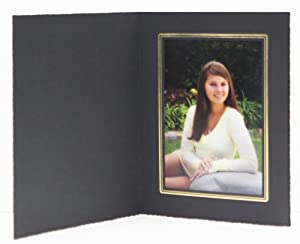BUCKEYE FOLDER BLACK/GOLD 8x10 Cardboard Photo Frames
