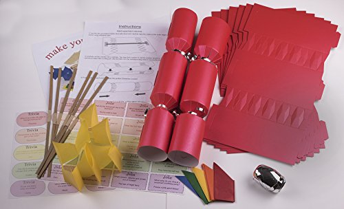 10-x-make-your-own-large-14-35cm-christmas-cracker-kits-red