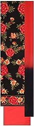 Seema Women's Silk Unstitched Salwar Suit (Black & Red)