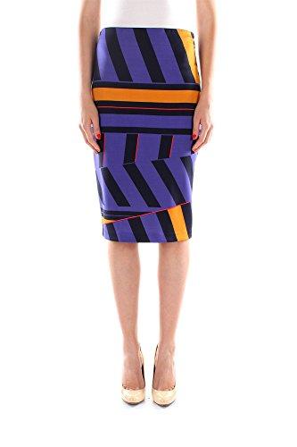 Gonne Pinko Donna Viscosa Blu e Multicolor 1B10RU534EH4 Blu 44EU