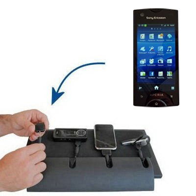 Gomadic Advanced Sony Ericsson Urushi 4-port Charging Station - Uses TipExchange Technology to charge up to four devices simultaneously