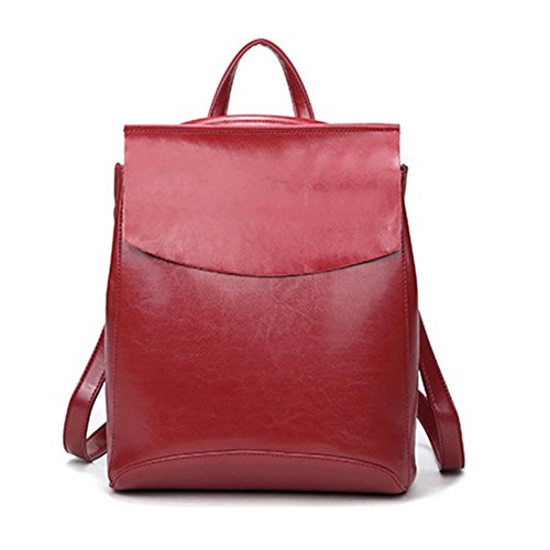 HIFISH HB125129C2 Genuine Leather Leisure Women's Handbag,Vertical Section Square Backpack