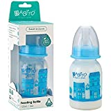 BABITO Baby Feeding Bottle With Silicone Nipple Charismata 120 Ml / 4 Oz. Blue