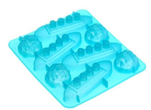 Dgi Mart Home Kitchen Use Frozen Food Candy Cookie Diy Making Mold Tray 8-Cavity Cute Lovely Titanic Shaped Ice Cake Chocolate Sugar Silicone Mini Cube Craft Fondant Mold Tray front-639304