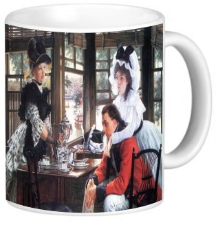Rikki Knighttm James Tissot Art Bad New (The Separation) Design 11 Oz Photo Quality Ceramic Coffee Mug Cup - Fda Approved - Dishwasher And Microwave Safe