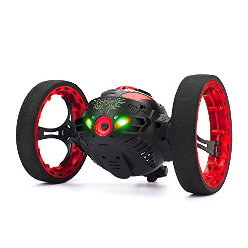 SainSmart Jr. Smart RC Control Bounce Jump Stunt Car with 2MP HD Camera Cellphone Wifi 2.4G Real-time Transmission (Black)