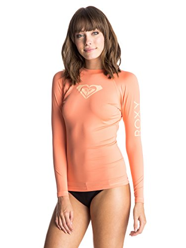Roxy Love - Maglietta a maniche lunghe da donna, donna, Wholeheartls J Sfsh, Sunkissed Coral, L