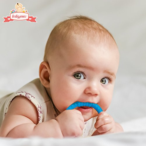 Toys For Teething : Safe baby teether silicone teething rings pack no