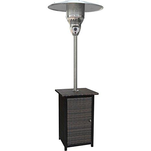 Hanover 41000 BTU Square Wicker Propane Patio Heater, 7', Brown/Stainless Steel (Propane Patio Heater Wicker compare prices)