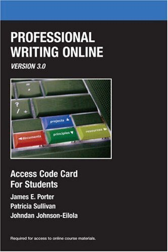Access code for Professional Writing Online, Version 3.0...