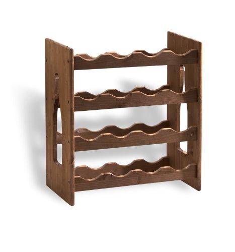 Cantinetta portabicchieri reggibicchieri sovrapponibile in legno multistrato mobili - Cantinetta vini ikea ...