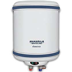 Maharaja Whiteline Classico6 6-Litre Water Heater (White and Blue)