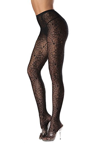 Costume-Adventure-Womens-Witch-Spider-Web-Pantyhose-Stocking-Tights