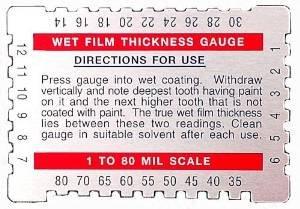 Dual Scale Wet Film Gauge. (Paint Wet Film Gauge compare prices)