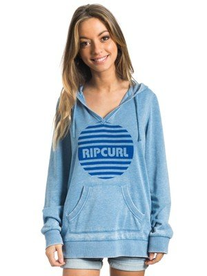 Rip Curl -  Felpa con cappuccio  - Donna Blu Blue (Riviera) 16 (Manufacturer Size:X-Large)