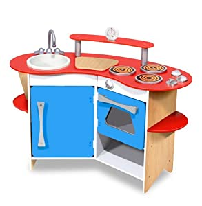 Melissa Doug Cook 39 S Corner Wooden Kitchen Melissa Doug Toys Games