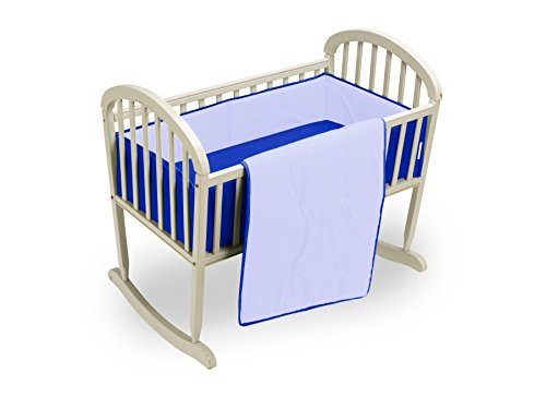 Baby Doll Reversible Cradle Bedding, lndigo Blue/Royal Blue