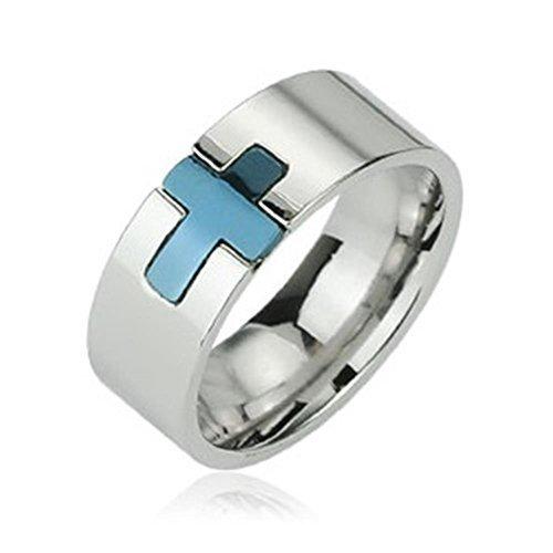 coolbodyart-edelstahl-unisex-ring-silber-8mm-breit-mit-blauem-eingelassenem-kreuz-66-21