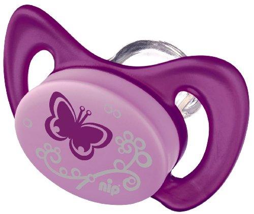 nip Dental Schnuller Miss Denti 38163-51 - Größe 1 Schmetterling (ohne Zähnchen) Dentalschnuller