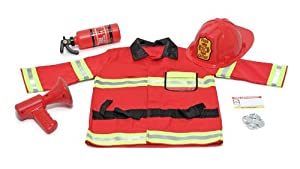 Melissa & Doug Fire Chief Role Play Costume Set from Melissa & Doug