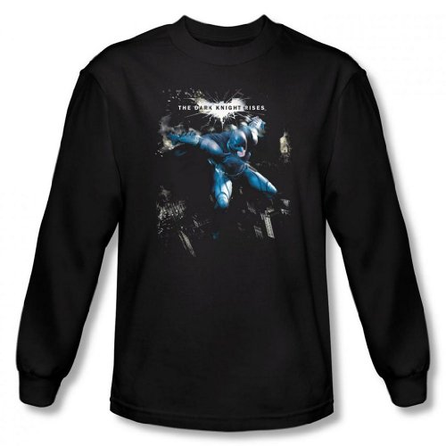 Dark Knight Rises - Batman What Gotham Needs Men's Long Sleeve T-Shirt, Black, Large