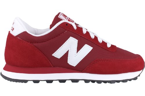 New Balance Women's WL501 Fashion Sneaker,Red/White,5.5 B US