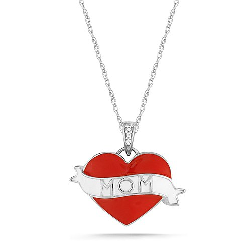 Enamel Mom Heart Tattoo