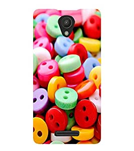 ASSORTED MULTICOLOURED BUTTONS 3D Hard Polycarbonate Designer Back Case Cover for Xiaomi Redmi 3S :: Xiaomi Redmi 3 :: Xiaomi Redmi 3 (3rd Gen)