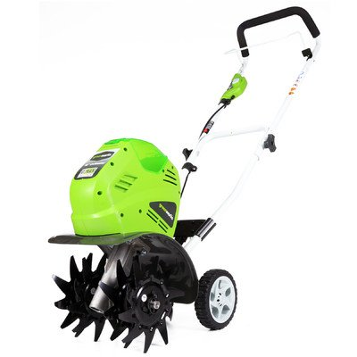 Great Features Of GreenWorks 27062A G-MAX 40V Li-Ion Cordless Cultivator, Battery & Charger Not Incl...
