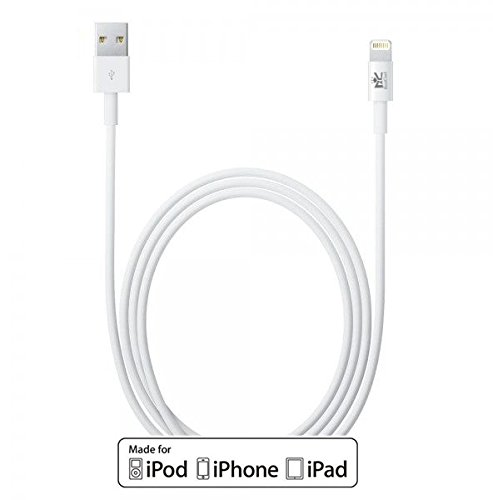 Apple認証 (Made for iPhone取得)Roiciel プレミアムライトニングUSBケーブル iPhone 6s / 6s Plus / iPhone 6 / 5 / iPad Air / iPad mini 用 コンパクト端子 ホワイト 1.0m 87RCMFILTN-6WA