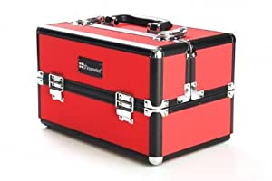 BH Cosmetics Makeup Train Case, Red