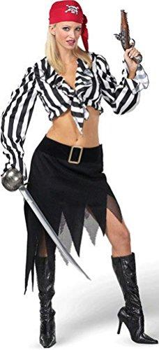 Coslove Cabin Girl Cutie Sexy Ladies Pirate Adult Costume Medium 10-12