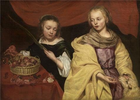 'Michaelina Woutiers,Two Girls As Saints Agnes And Dorothea,ca.1620-1682' Oil Painting, 10x14 Inch / 25x35 Cm ,printed On High Quality Polyster Canvas ,this Cheap But High Quality Art Decorative Art Decorative Prints On Canvas Is Perfectly Suitalbe For Hallway Decoration And Home Decoration And Gifts (22 Rat Shot Bullets compare prices)
