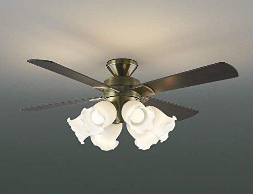 薄型 LED 明るさ8畳 大風量 簡易取付 コイズミ アジアン アンティーク調 シーリングファン ライト 【KEE-007】
