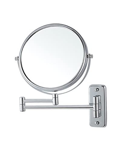 Nameeks Wall Mounted Double Sided 3X Makeup Mirror, Chrome Finish