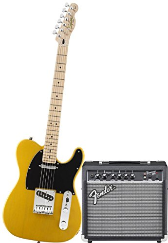 squier-by-fender-affinity-tele-electric-guitar-pack-with-fender-frontman-15g-butterscotch-blonde