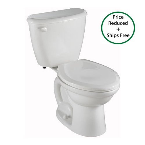 American Standard 2437.800.020 Colony Fit Right Height Elongated Two Piece Toilet with Right Hand Trip Lever, White