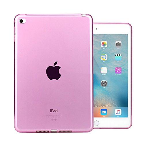 iPad Mini 4 Case, iCoverCase Ultra-thin Silicone Back Cover Clear Plain Soft TPU Gel Rubber Skin Case Protector Shell for Apple iPad Mini 4 7.9
