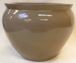 Latte Tan Porcelain Fish Bowl 18\