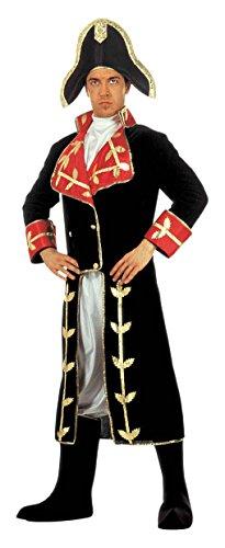 [NAPOLEON COSTUME (M) (long coat jabot pants boot covers hat)] (Napoleon Hat Costume)