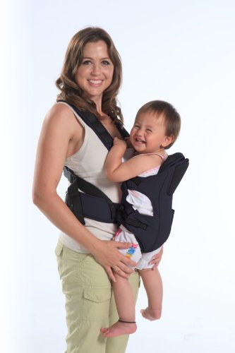 Comfy Baby Front and Back Safety Baby Carrier (Black)