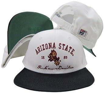 Arizona State Sun Devils Fork Em Devils Snapback Adjustable Plastic Snap Back Hat Cap by The Game