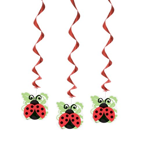 Big Save! 26 Hanging Ladybug Decorations, 3ct